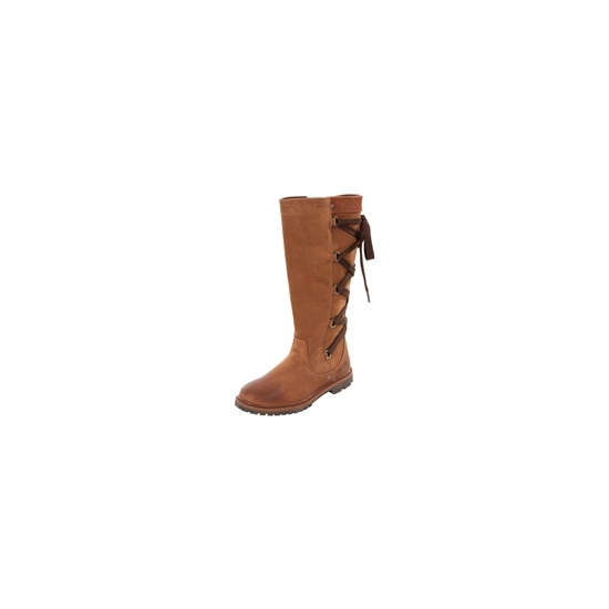 Timberland Chocolate Prem 14inch Lace Back Boots