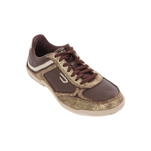 Photo of Diesel Maysport Chocolate and Gold Trainer Shoes Man