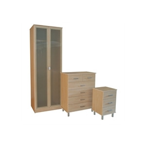 Photo of Sicily 3 Piece Bedroom Package  Maple Effect Furniture