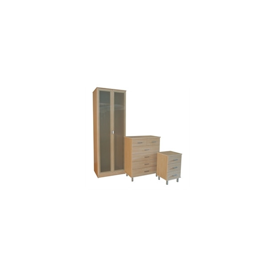 Sicily 3 Piece Bedroom Package  Maple Effect