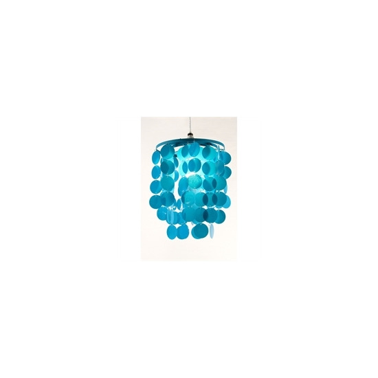 3 Tier Disc Pendant Teal