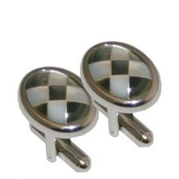 Dice Black and White Mother of Pearl Cufflinks Reviews