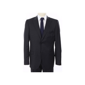 Photo of Calvin Klein Pin Stripe Suit Navy Jackets Man