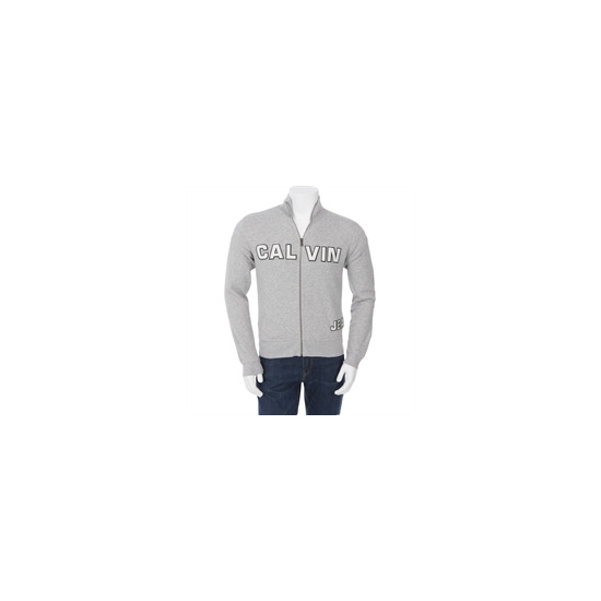 Calvin Klein Zip Through Sweat Grey