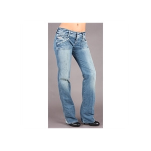 "Photo of Diesel Reckfly Blue Straight 34""Leg Jean Jeans Woman"