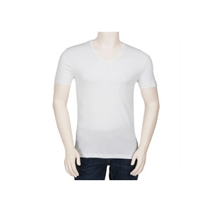 Photo of Hugo Boss Orange Label V Neck T Shirt - White T Shirts Man