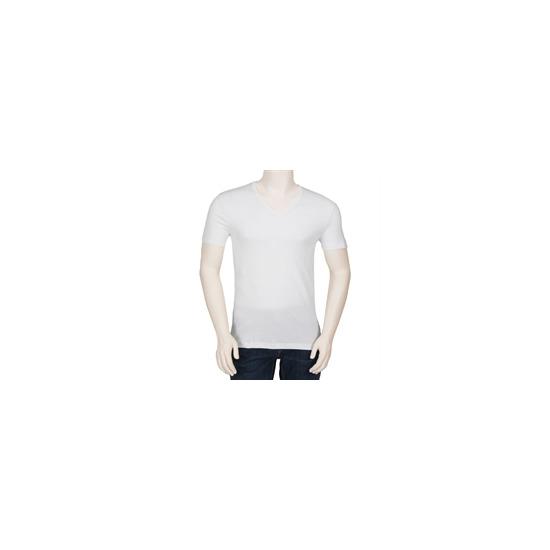 Hugo Boss Orange Label V Neck T Shirt - White
