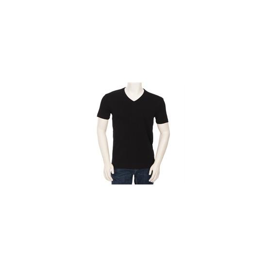 Hugo Boss Orange Label V Neck T Shirt Black