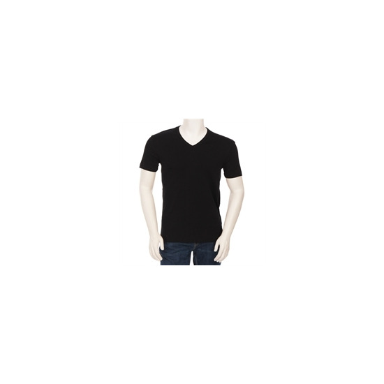 Hugo Boss Orange Label V Neck T Shirt Black