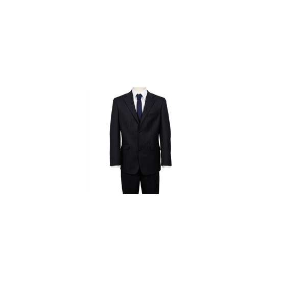 Ben Sherman Single Breasted Suit Twin Stripe Navy