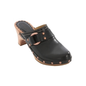 Photo of Caterpillar Vino Black Leather Slip On Mules Shoes Woman