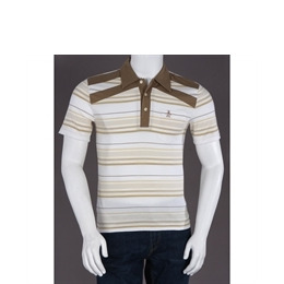 Penguin Heritage Fit Stripe Polo Beige Reviews