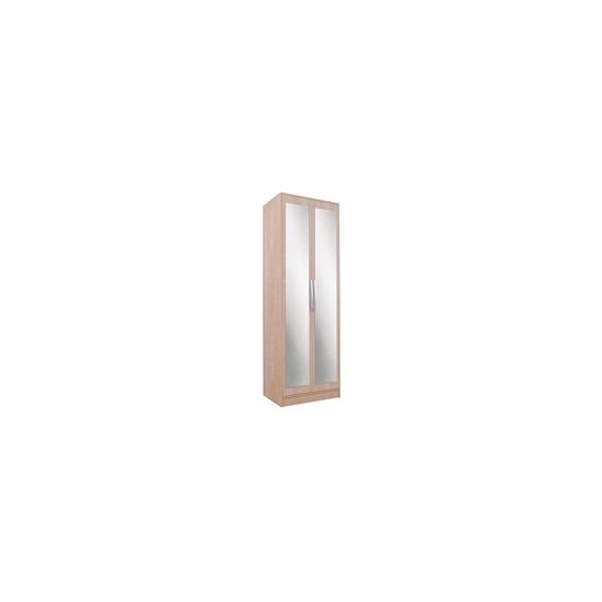 Chicago 2 Door Mirrored Wardrobe  Birch