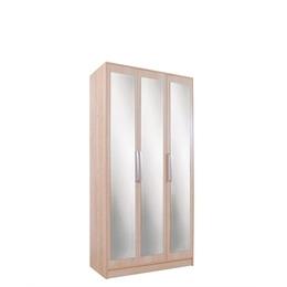 Chicago 3 Door Mirrored Wardrobe  Birch Reviews