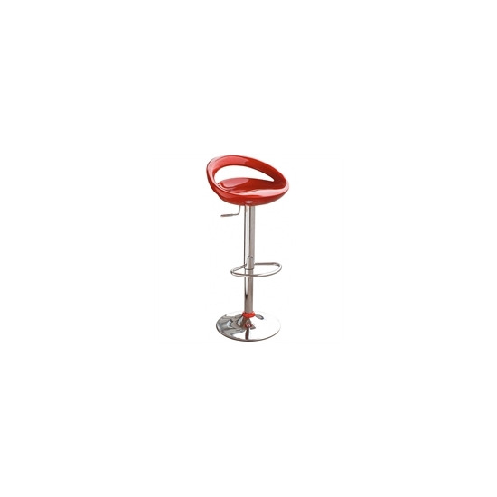 Gas Lift Bar Stool - Red
