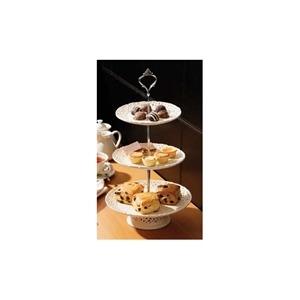 Photo of 3 Tier Cake Plate Ceramic Lace Dinnerware