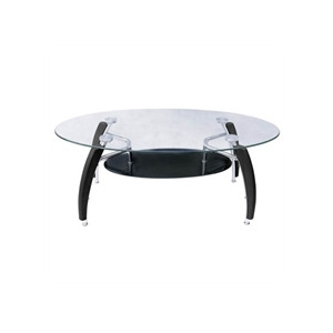 Photo of Glass Coffee Table With Black Glass Shelf Furniture