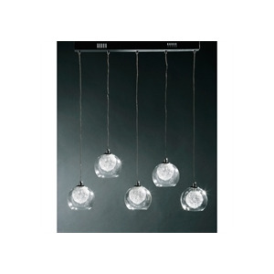 Photo of 5 Ball Glass and Chrome Ceiling Light Lighting