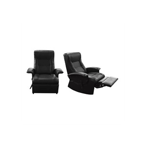Photo of Leather Reclining Chair With Rocking Action  Black Furniture