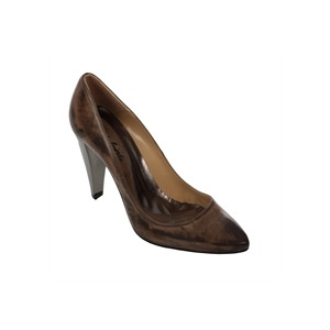 Photo of All Saints Leather Closed Toe Heels Brown Shoes Woman