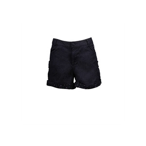 Photo of Animal Turn Up Shorts Black Trousers Man