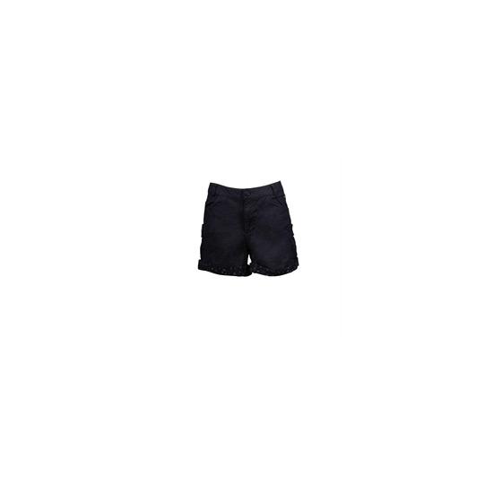 Animal Turn Up Shorts Black