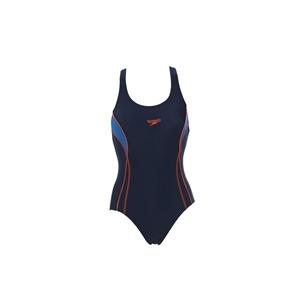 Photo of Speedo Swimsuit Navy With Racer Style Back Swimwear
