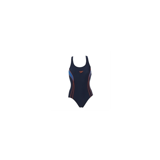 Speedo Swimsuit Navy With Racer Style Back