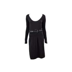 Photo of French Connection Long Sleeve Fine Knit Dress BLK Dress