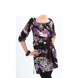 French Connection Print Tunic Black & Plum Reviews