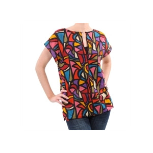Photo of French Connection Print Cap Sleeve Top Tops Woman