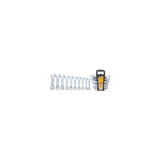 Rolson 10 Piece Stubby Spanner Set