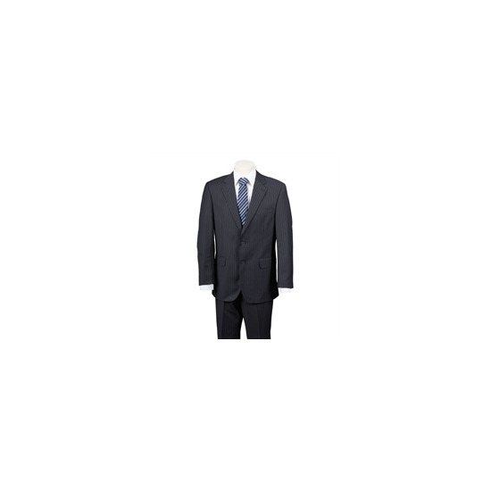 Scott Black Chalk Stripe Suit