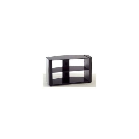 AVS L603-840BB Black Glass TV Stand