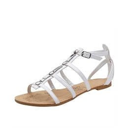 Savannah Gladiator Patent Sandals White Reviews