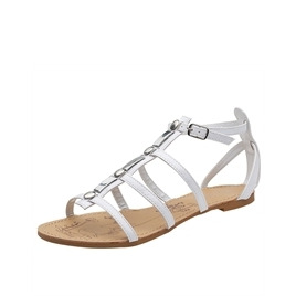 Savannah Gladiator Patent Sandals White Reviews