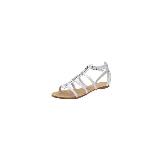 Savannah Gladiator Patent Sandals White