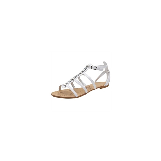 Savannah Gladiator Patent Sandals White