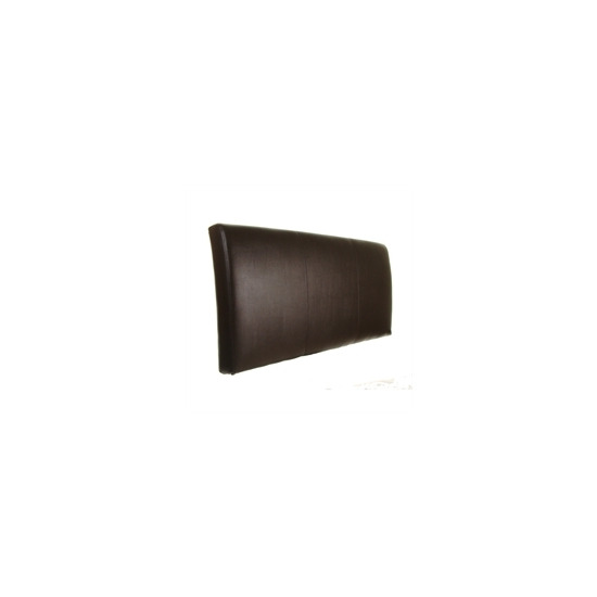 Torino 5ft Headboard Brown Faux Leather