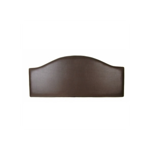 Photo of San Remo 5FT Headboard, Brown Faux Leather Bedding