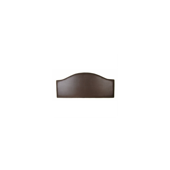 San Remo 5ft Headboard, Brown Faux Leather