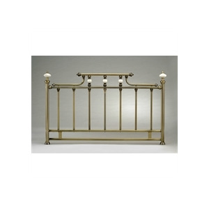 Photo of Bordeaux 4FT6 Headboard  Antique Brass Effect Bedding