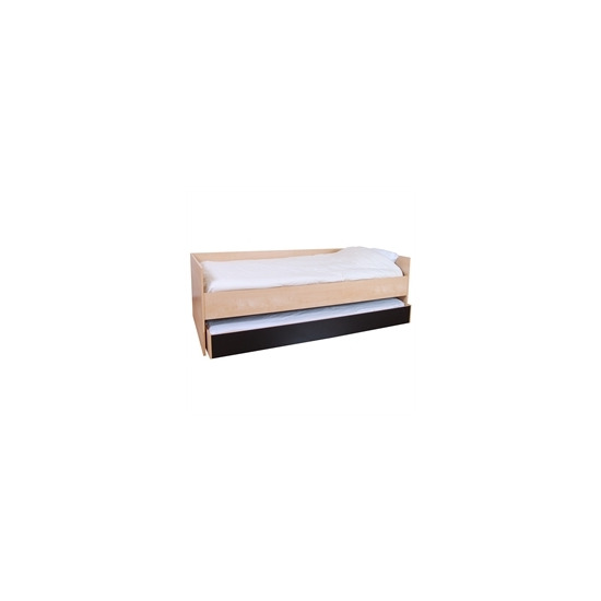 Cannes 3ft Bed with Trundle  Beech Effect & Black