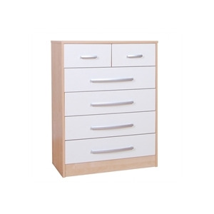 Photo of Lyon 4 + 2 Drawer Chest - Beech Effect & Cream Furniture
