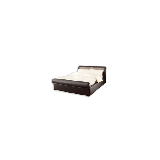 Chamberry 5ft Bedstead - Brown Faux Leather