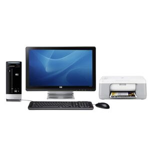 "Photo of HP S3811UK-P With 20"" Display and HP F2280 All-In-One Desktop Computer"