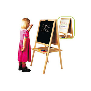 Photo of Art Centre Wooden Blackboard & Easel Toy