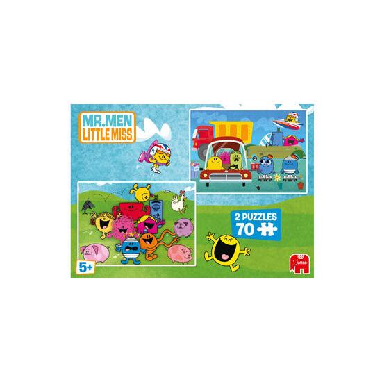 Mr Men 2x70 Piece Puzzles