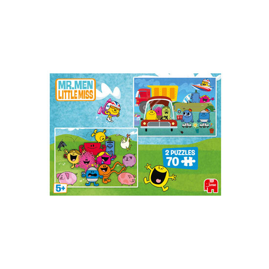 Mr Men 2x70 Piece Puzzles