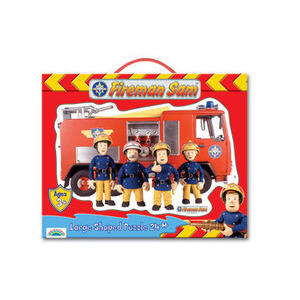 Photo of Fireman Sam Large Shaped Puzzle - 24 Piece Engine Toy